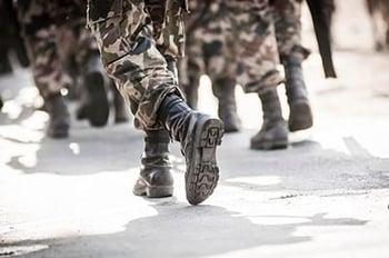 Non-Combat PTSD Soldiers Walking